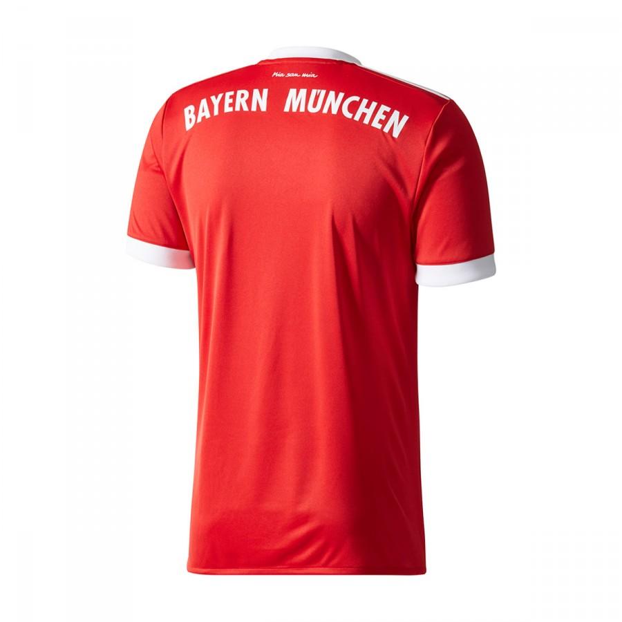 752c9a07453bf Camiseta adidas FC Bayern Munich Primera Equipación 2017-2018 True  red-White - Tienda de fútbol Fútbol Emotion