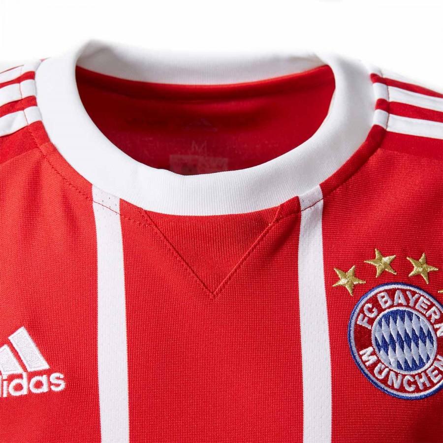 b293cb78b472c Camiseta adidas FC Bayern Munich Primera Equipación 2017-2018 True  red-White - Tienda de fútbol Fútbol Emotion