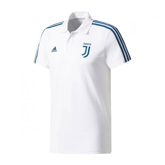 Polo  adidas Juventus 3S 2017-2018 White-Blue night