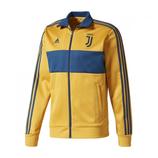 Chaqueta  adidas Juventus 3S Top 2017-2018 Tactile yellow-Blue night