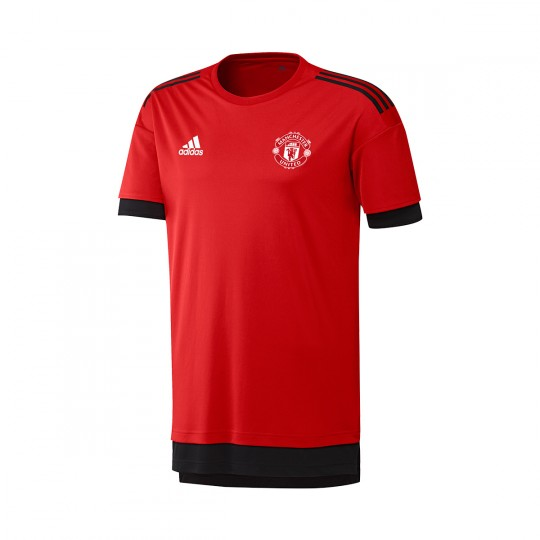 Camiseta  adidas Manchester United FC EURO Training 2017-2018 Red-Black