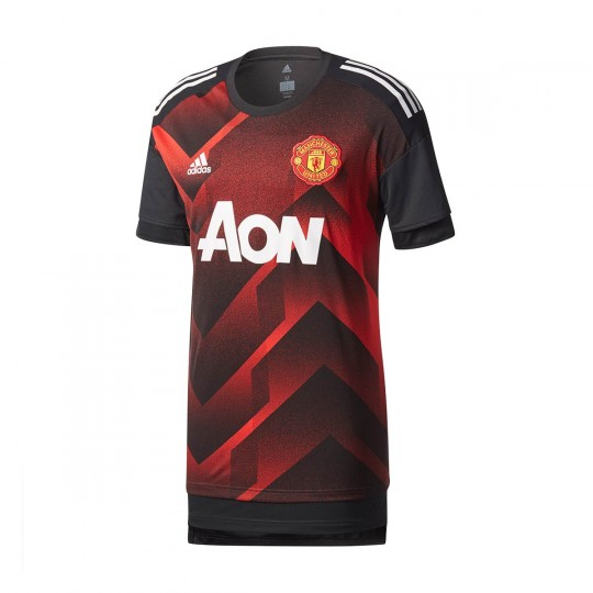 Camisola  adidas Manchester United FC Prematch 2017-2018 Real red-Black
