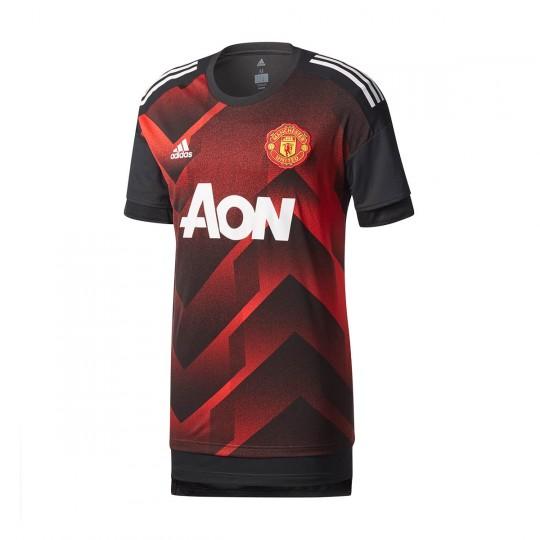Camiseta  adidas Manchester United FC Prematch 2017-2018 Real red-Black