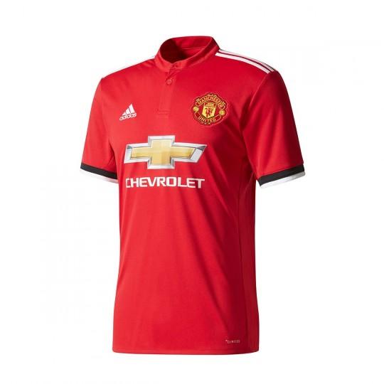 Camiseta  adidas Manchester United FC Primera Equipación 2017-2018 Real red-White-Black