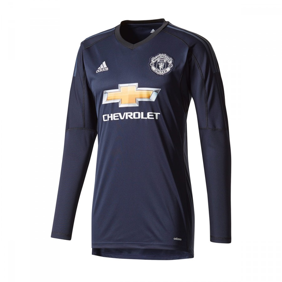 c702b6c5f adidas Manchester United FC Home 2017-2018 Goalkeeper Jersey. Legend ink-Trace  blue-Solid grey ...