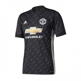 Camisola  adidas Manchester United FC Equipamento Secundário Woven 2017-2018 Black-White-Granite