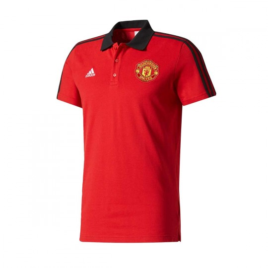 Polo  adidas Manchester United FC 3S 2017-2018 Real red-Black
