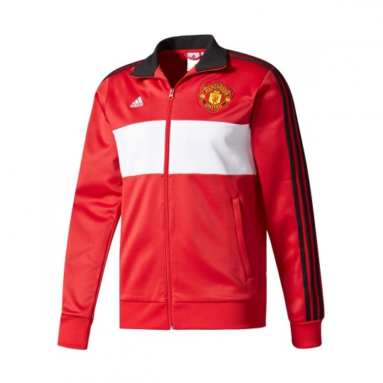 Chaqueta  adidas Manchester United FC 3S Top 2017-2018 Real red-White-Black