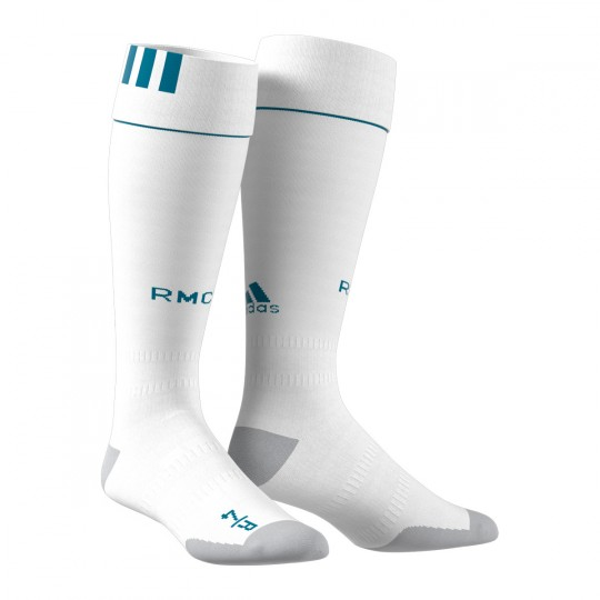 Meias  adidas Real Madrid Principal 2017-2018 White-Vivid teal
