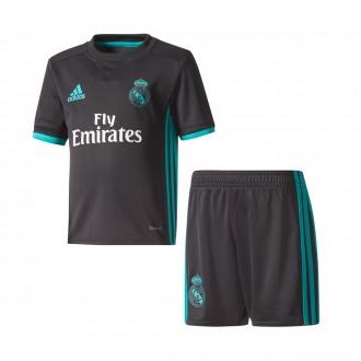 Conjunto  adidas Real Madrid Mini Segunda Equipación 2017-2018 Niño Black-Aero reef