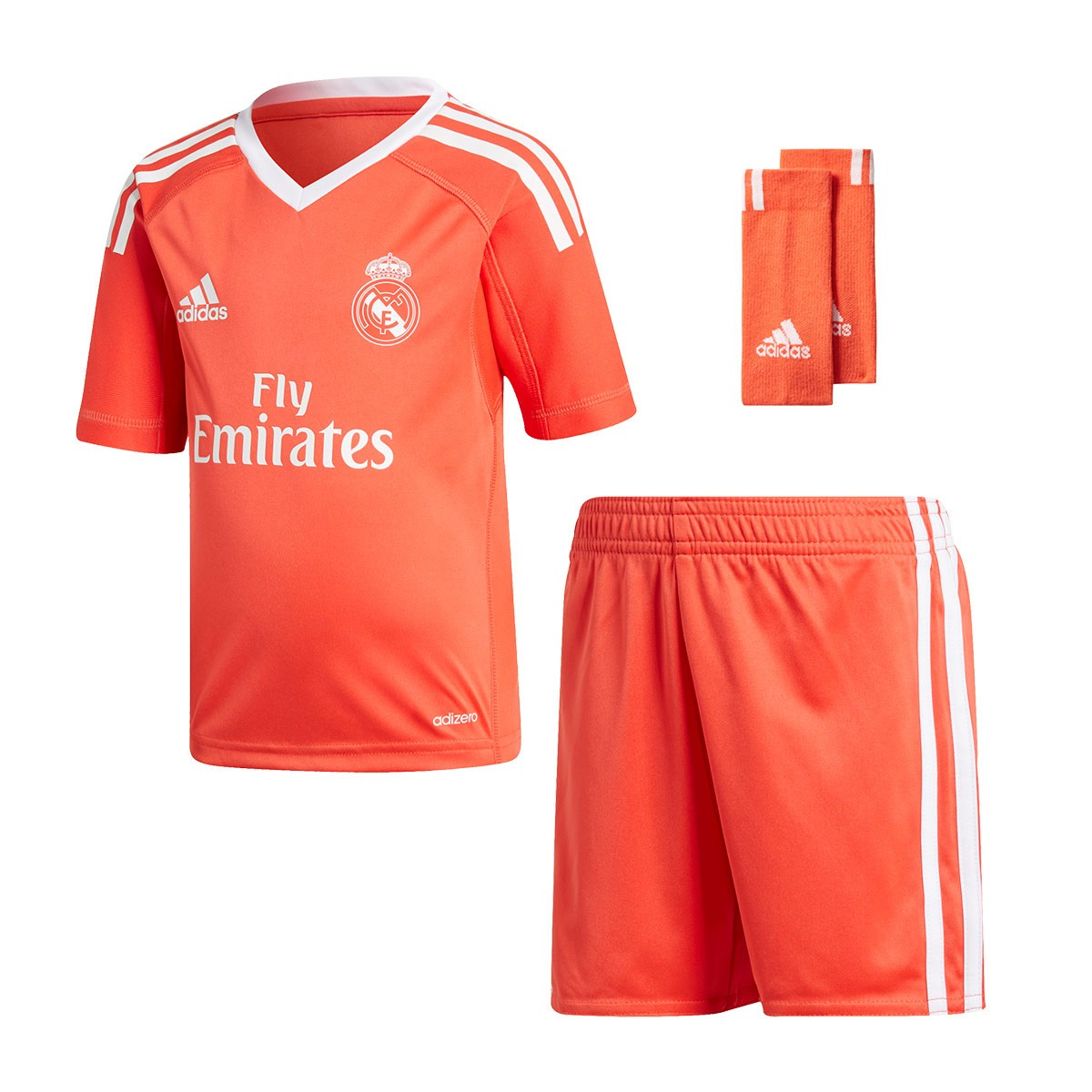 Kit adidas Real Madrid Mini Away 2017-2018 Goalkeeper Kids Bright red-White  - Soloporteros es ahora Fútbol Emotion bd0c44370