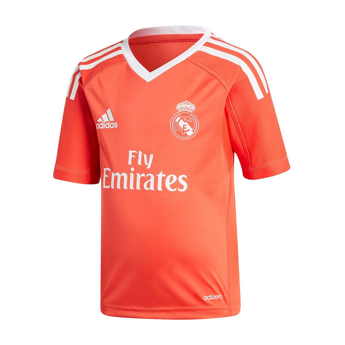 014e56930d Conjunto adidas Real Madrid Equipamento Alternativo Guarda-Redes 2017-2018  Crianças Bright red-White - Loja de futebol Fútbol Emotion