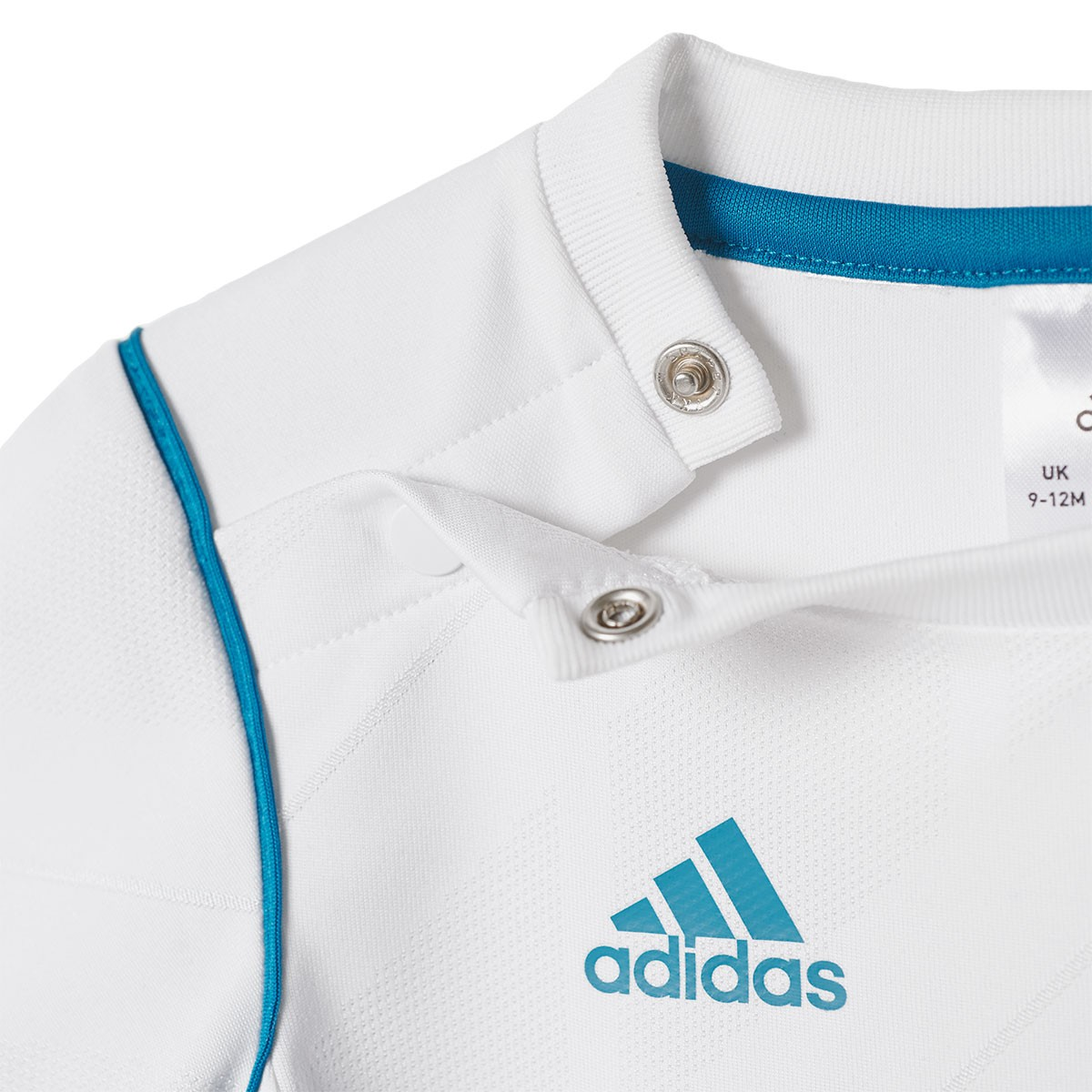 a8e032934c3 Kit adidas Infants Real Madrid Home 2017-2018 White-Vivid teal - Football  store Fútbol Emotion