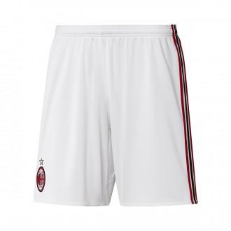 Calções  adidas AC Milán Segunda Equipación 2017-2018 White-Victory red-Black
