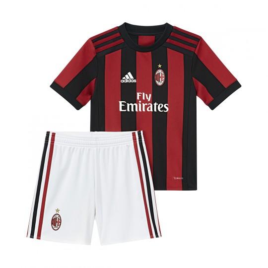 Conjunto  adidas Mini AC Milán Home 2017-2018 Victory red-Black