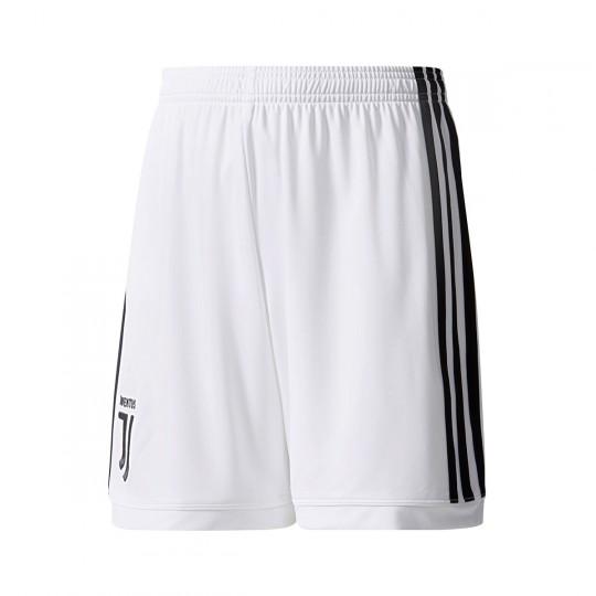 Pantalón corto  adidas Juventus Primera Equipación 2017-2018 Niño White-Black