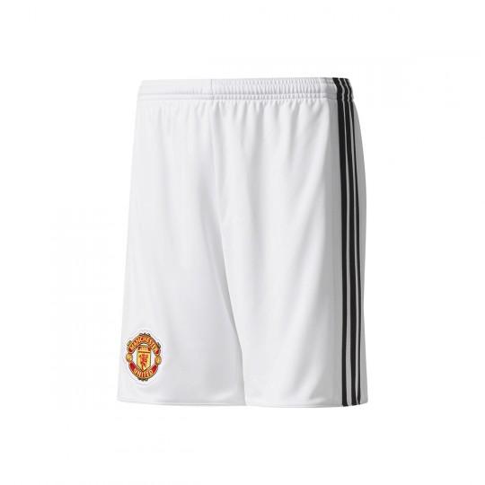 Pantalón corto  adidas Manchester United FC Primera Equipación 2017-2018 Niño White-Black