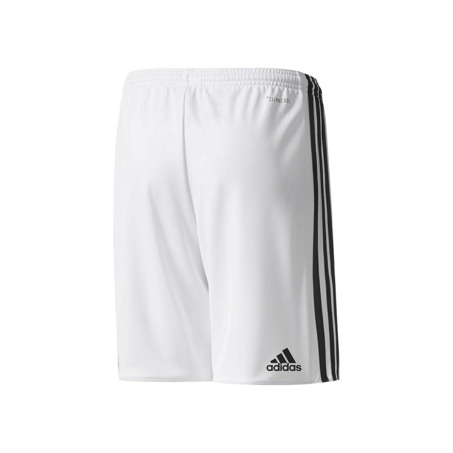 f79efe4dd59d9 Pantalón corto adidas Manchester United FC Primera Equipación 2017-2018 Niño  White-Black - Tienda de fútbol Fútbol Emotion