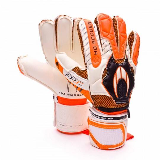 Guante  HO Soccer Protek Flat Aquaformula Blanco-Naranja-Negro