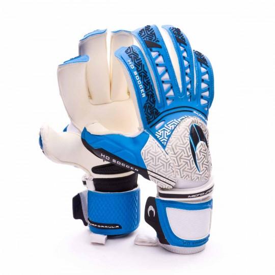 Luvas  HO Soccer Ikarus Ergo-Roll Finger Aquaformula Azul-Branco