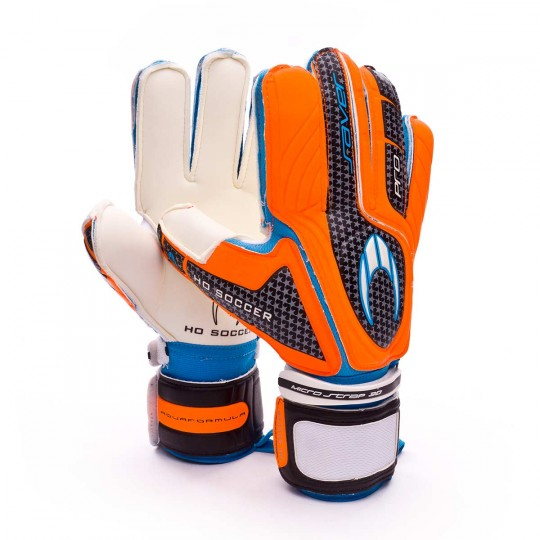 Guante  HO Soccer Pro Saver Flat Megagrip Naranja-Negro