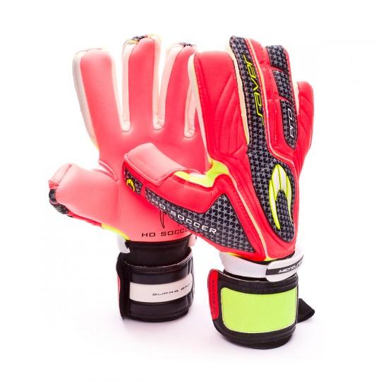 Glove  HO Soccer Pro Saver Negative WARNING SUPRA GRIP Black-Lime