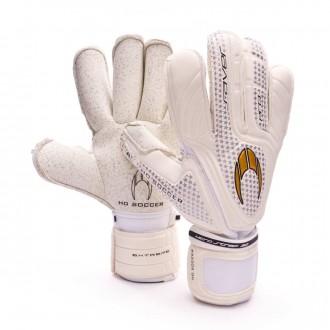 Luvas  HO Soccer Pro Saver Roll Finger Extreme Branco