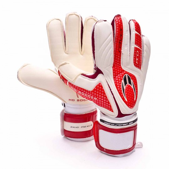 Guanti  HO Soccer Pro Saver DUO Bianco-Rosso