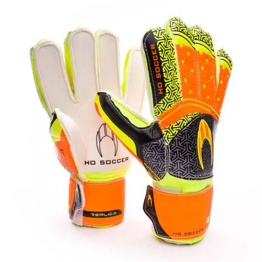 Guante  HO Soccer Replica Ikarus Naranja-Negro-Amarillo