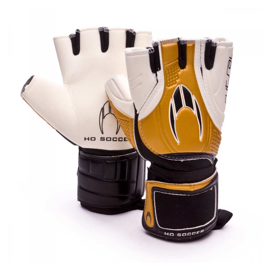 07839e9492a7 Glove HO Soccer Futsal White-Golden - Football store Fútbol Emotion