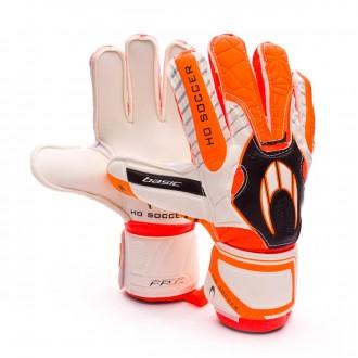Guante  HO Soccer Basic Protek Orange Blanco-Naranja