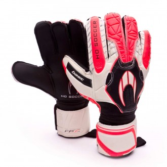Guante  HO Soccer Basic Protek WARNING Blanco-Rosa-Negro
