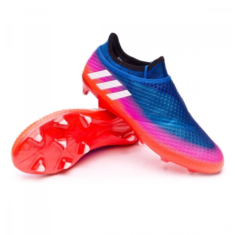 c89f89cd1 adidas Messi 16+ Pureagility FG Kids Football Boots. Blue-White-Black ...