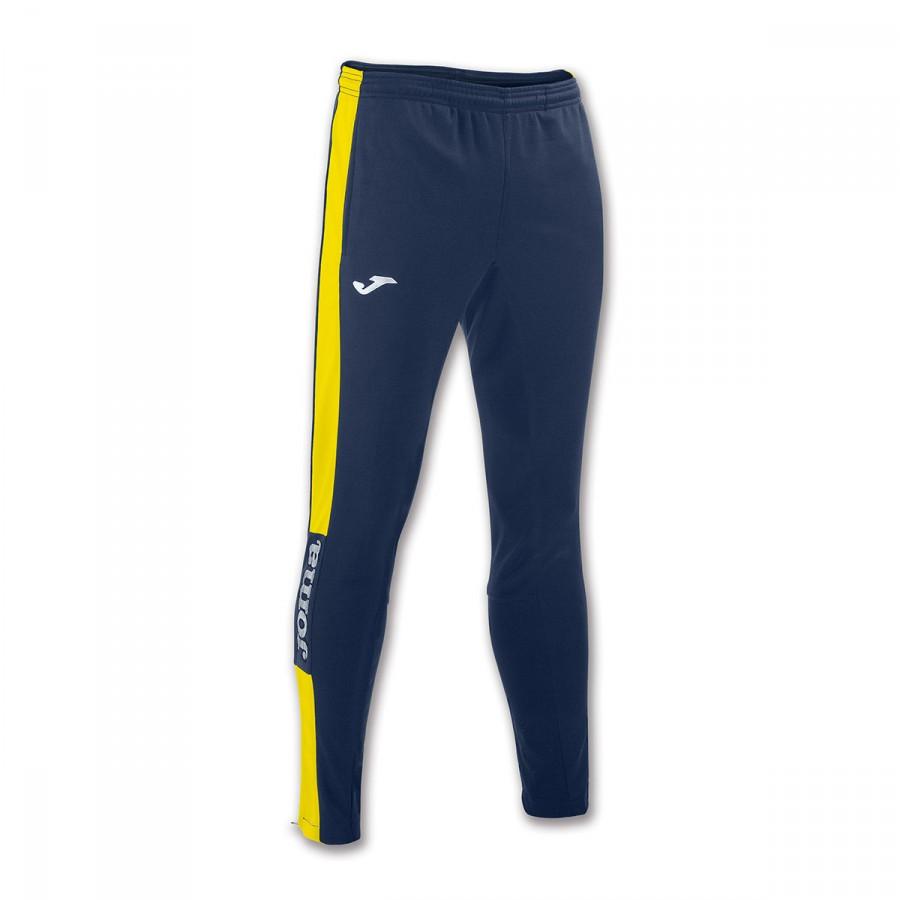 862408333 Long pants Joma Champion IV Skinny Navy blue-Yellow - Football store ...