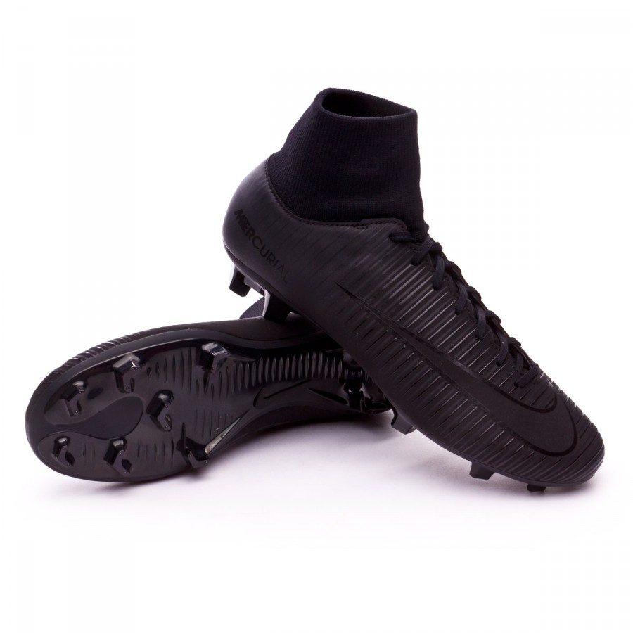 best sneakers 22612 6385d Bota Mercurial Victory VI DF FG Black