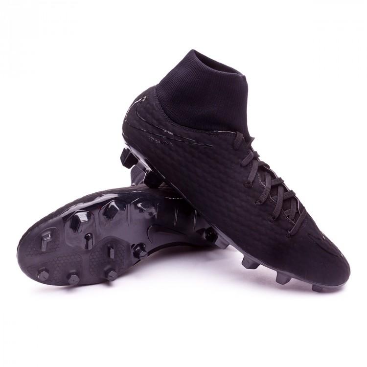 Bota de fútbol Nike Hypervenom Phelon III DF FG Black - Soloporteros ... 3ee0932231c75