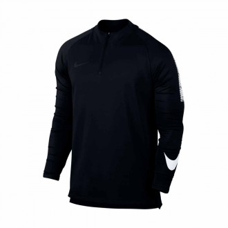 Sudadera  Nike Dry Squad Football Drill Top Black-White