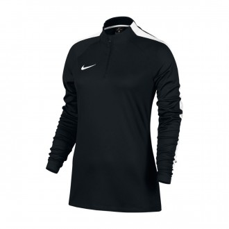 Sudadera  Nike Academy Football Drill Top Mujer Black-White
