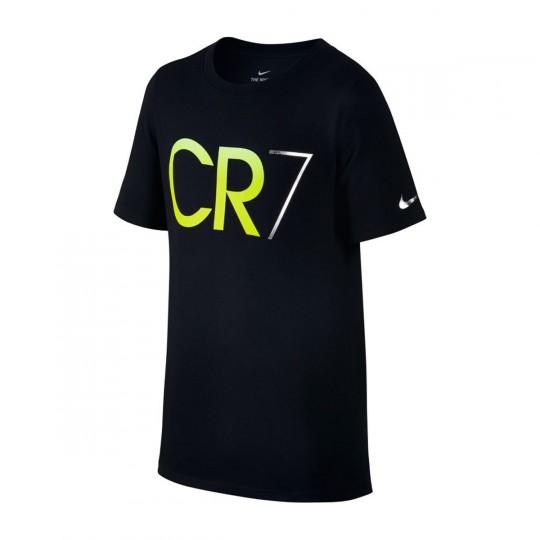 Camisola  Nike Ronaldo Niño Black-Volt