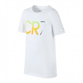 Camiseta  Nike CR7 Niño White