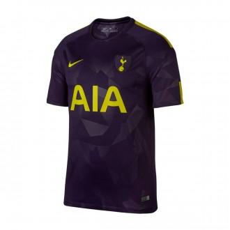 Camiseta  Nike Tottenham Stadium SS Tercera Equipación 2017-2018 Purple dinasty-Optical yellow