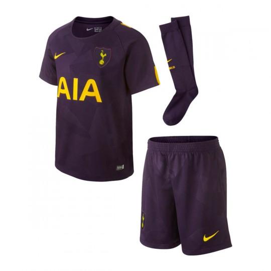 Conjunto  Nike Tottenham Tercera Equipación 2017-2018 Purple dinasty-Optical yellow