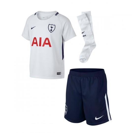 Conjunto  Nike Tottenham Primera Equipación 2017-2018 White-Binary blue