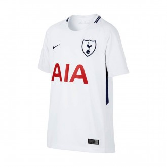 Camiseta  Nike Tottenham Stadium SS Primera Equipación 2017-2018 Niño White-Binary blue
