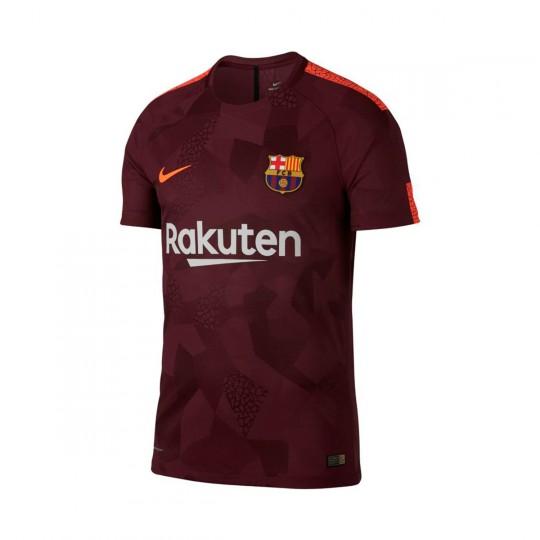 Camiseta  Nike FC Barcelona Vapor Match SS Tercera Equipación 2017-2018 Night maroon-Hyper crimson