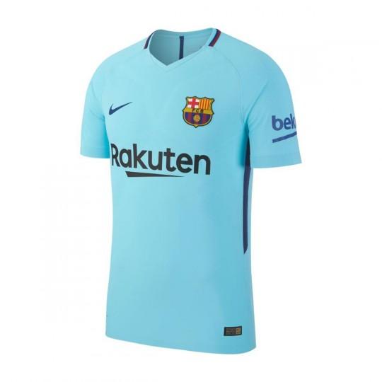 Camiseta  Nike FC Barcelona Vapor Match SS Segunda Equipación 2017-2018 Polarized blue-Deep Royal blue