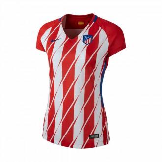Camiseta  Nike Atlético de Madrid Stadium SS Primera Equipación 2017-2018 Mujer Sport red-White-Deep royal blue