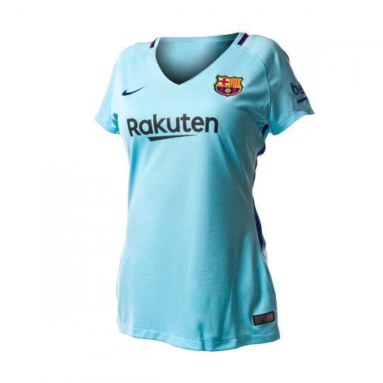 Camisola  Nike FC Barcelona Stadium SS Alternativo 2017-2018 Mujer Polarized blue-Deep royal blue