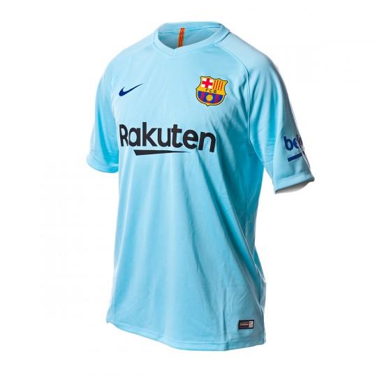Camiseta  Nike FC Barcelona SS Segunda Equipación 2017-2018 Polarized blue-Deep royal blue