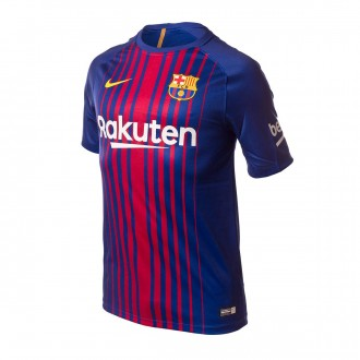Camiseta  Nike FC Barcelona SS Supporters Primera Equipación 2017-2018 Deep royal blue-University gold